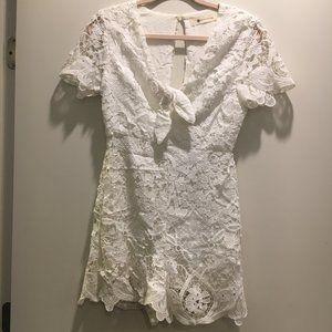 EUC Dallas Boutique White Romper